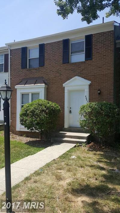 District Heights Townhouse For Sale: 6027 Hil Mar Circle