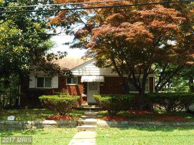 Hyattsville Single Family Home For Sale: 6704 20th Avenue