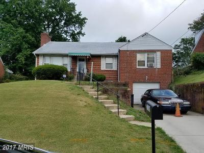 Temple Hills Single Family Home For Sale: 2709 Fairlawn Street