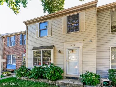 Woodbridge Townhouse For Sale: 3610 Woodhaven Court