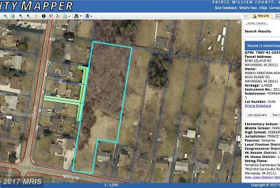 Manassas Residential Lots & Land For Sale: 8040 Leland Road