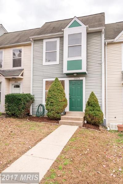 Prince William Townhouse For Sale: 15373 Gatehouse Terrace
