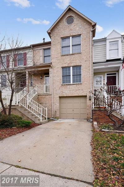 Prince William Townhouse For Sale: 7921 Blue Gray Circle