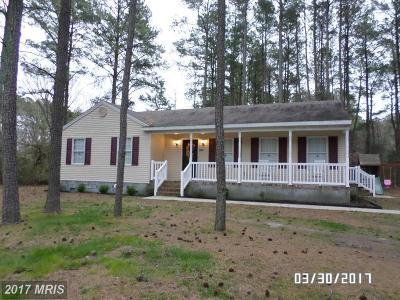 Crisfield Single Family Home For Sale: 2869 Byrdtown Road