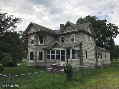 Crisfield Single Family Home For Sale: 26590 Mariners Road
