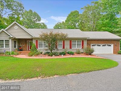 Fredericksburg Single Family Home For Sale: 8300 River Road