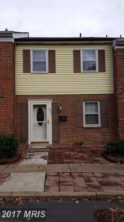Fredericksburg VA Townhouse For Sale: $135,000