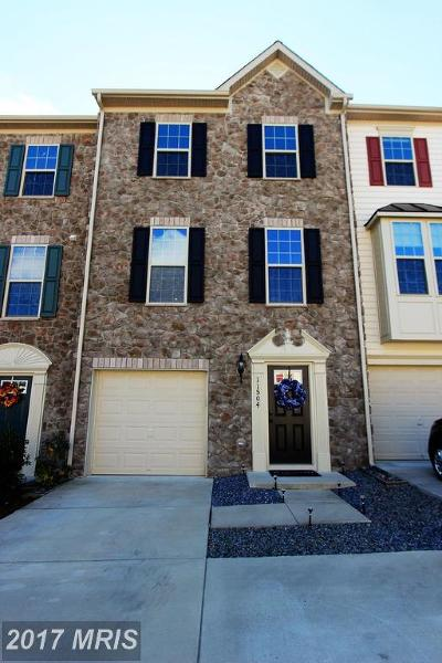 Fredericksburg Townhouse For Sale: 11504 Accord Court