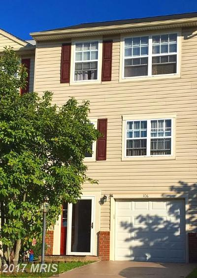 Stafford Townhouse For Sale: 106 Hatchers Run Court