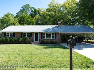 Fredericksburg Single Family Home For Sale: 816 Cresthill Road