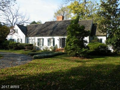 Cordova, Easton, Queen Anne, Wye Mills Single Family Home For Sale: 28388 Old Country Club Road
