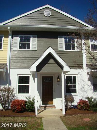 Saint Michaels Townhouse For Sale: 211 Webb Lane