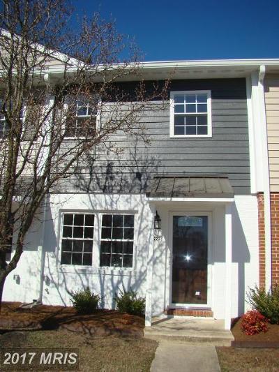 Saint Michaels Townhouse For Sale: 223 Webb Lane