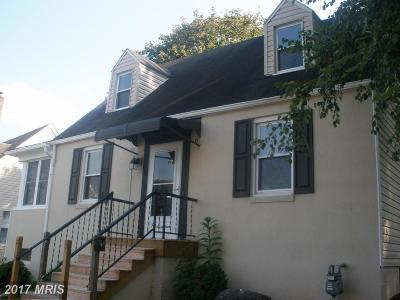 Washington Single Family Home For Sale: 1017 Fairview Road