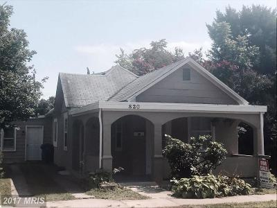 Hagerstown Single Family Home For Sale: 820 Chestnut Street