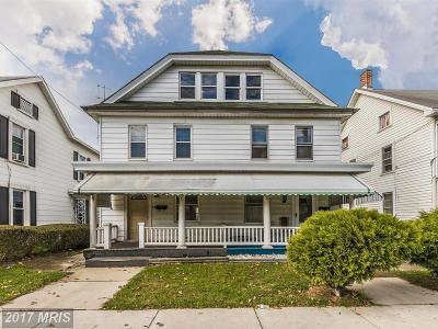 Hagerstown Duplex For Sale: 551 Frederick Street