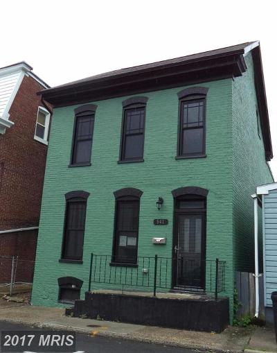 Hagerstown Single Family Home For Sale: 547 Church Street W