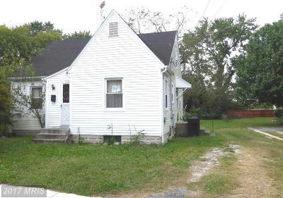 Somerset, Wicomico, Worcester Single Family Home For Sale: 612 Truitt Street