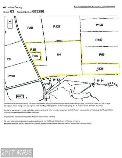 Wicomico, WICOMICO COUNTY Residential Lots & Land For Sale: 2909 Whitehaven Road