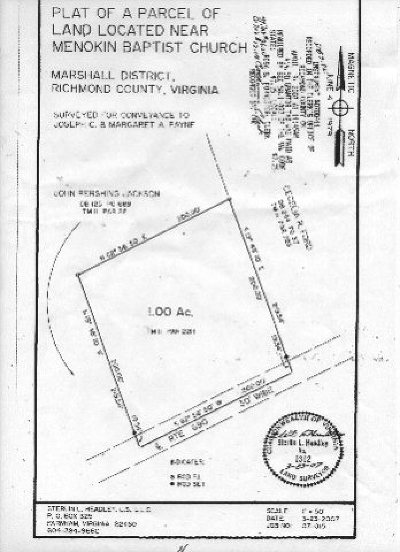 Richmond County Residential Lots & Land For Sale: Menokin Road