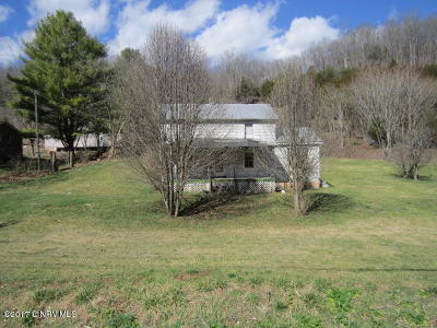 Shawsville Single Family Home For Sale: 5364 Roanoke Rd