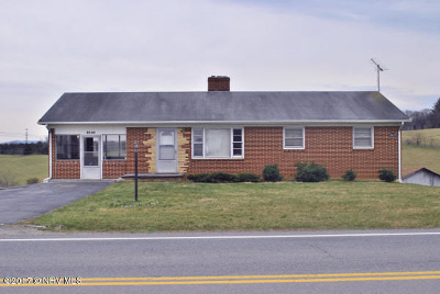 Christiansburg Single Family Home For Sale: 3825 Mud Pike