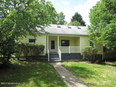 Radford Single Family Home For Sale: 6637 South Dr