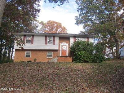 Christiansburg Single Family Home For Sale: 1370 Roanoke Street