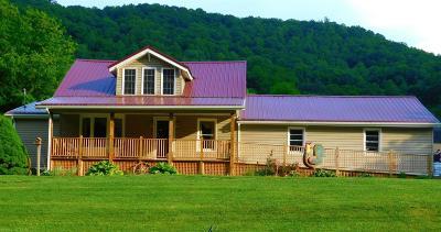 Shawsville Single Family Home For Sale: 5807 Roanoke Road