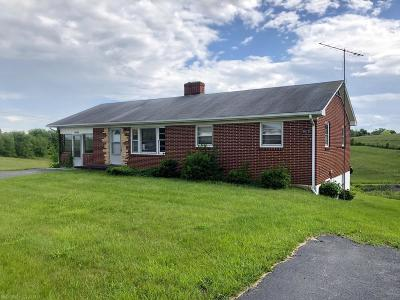 Christiansburg Single Family Home For Sale: 3825 Mud Pike Road
