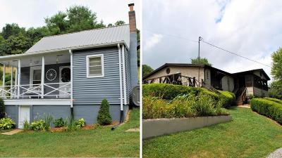 Giles County Single Family Home For Sale: 514 & 528 Bear Springs Road