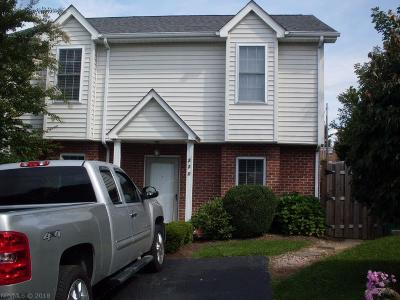 Christiansburg Condo/Townhouse For Sale: 220 Darci Drive