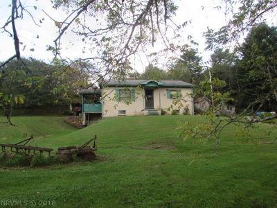 Hillsville VA Single Family Home For Sale: $74,500