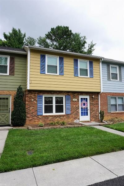 Christiansburg Condo/Townhouse For Sale: 243 Lester Place