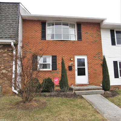 Blacksburg VA Condo/Townhouse For Sale: $179,900