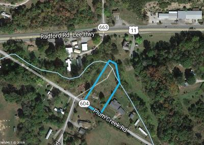 Christiansburg Residential Lots & Land For Sale: 3122 Plum Creek Road