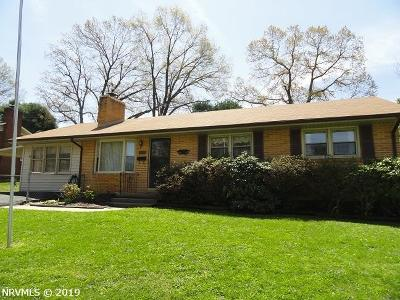 Fairlawn VA Single Family Home For Sale: $169,900