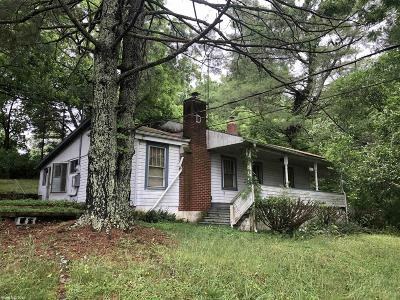 Blacksburg VA Single Family Home For Sale: $99,900