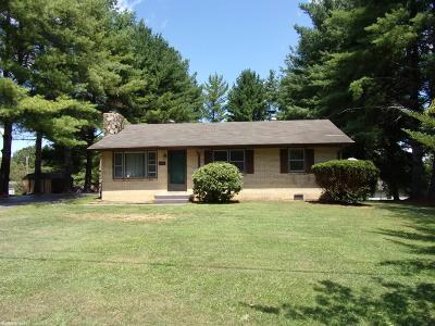 Christiansburg Single Family Home For Sale: 1714 Peppers Ferry Road