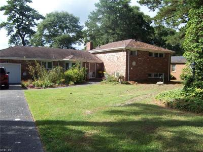 Portsmouth Single Family Home For Sale: 2700 Sterling Point Dr