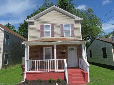 Chesapeake Single Family Home For Sale: 4145 Everett St