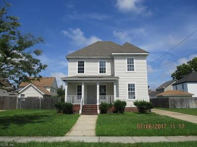 Norfolk Single Family Home Under Contract: 507 Fauquier St