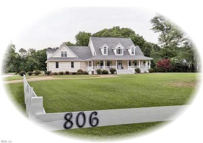 York County Single Family Home For Sale: 806 Calthrop Neck Rd