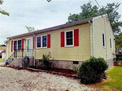 Poquoson Single Family Home For Sale: 3 Messick Rd