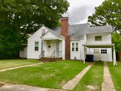 Portsmouth Single Family Home For Sale: 223 Chesapeake Ave