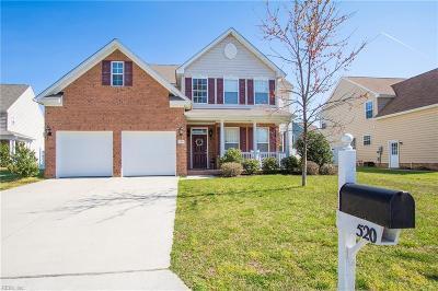Newport News Single Family Home For Sale: 520 Tudor Ct