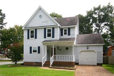 Newport News Single Family Home New Listing: 910 Silversmith Cir