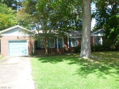 Newport News Single Family Home New Listing: 52 Hardwick Rd