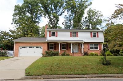 Newport News Single Family Home New Listing: 103 Archer Rd