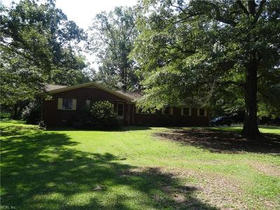 Isle of Wight County Single Family Home New Listing: 21004 Reynolds Dr
